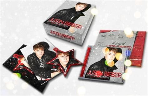 justin bieber under the mistletoe cd dvd gift box