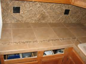 Tile Countertops Kitchen Kitchen Porcelein Tiled Countertop Backsplash