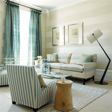 Striped Rooms | blue striped living room living room designs sofas