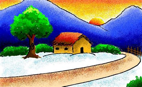 Landscape Pictures To Draw And Paint Ms Paint Landscape By Subhadipkoley On Deviantart