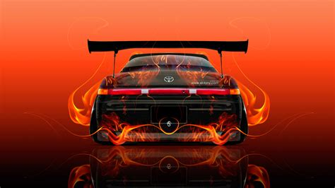red orange cars toyota mark2 jzx90 jdm back fire abstract car 2015