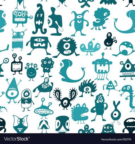 Doodle Monsters Royalty Free Vector Image Vectorstock
