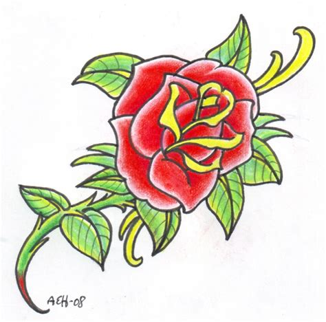 old school rose tattoo pictures by bernard mccarthy