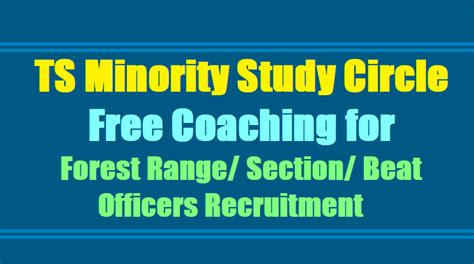 Free Mba Programs For Minorities 2017 by Ts Minority Study Circles Free Coaching For Forest Range