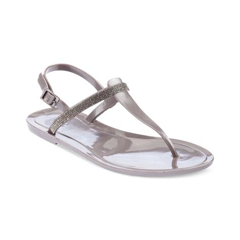 jelly flat sandals vince camuto udele flat jelly sandals in silver