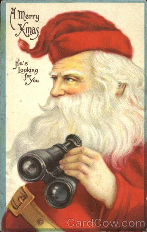 santa  binoculars santa claus