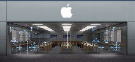led lights for store windows mesmerizing front window displays going up at apple stores
