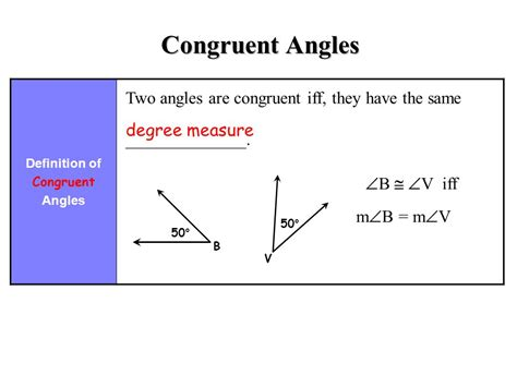 how do you indicate congruent angles in a diagram angle pair relationships ppt