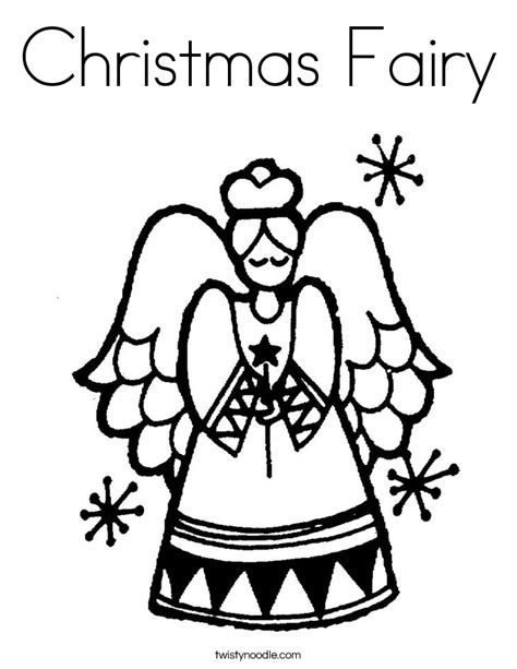 christmas fairy coloring page christmas fairy coloring page twisty noodle