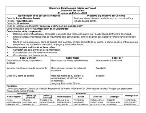 planificaciones educacin primaria secuencia did 225 ctica para educaci 243 n f 237 sica i