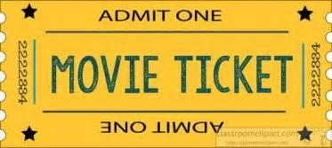 theatre movie ticket yellow admit one clipart