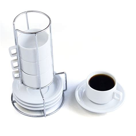 Stackable Coffee Mugs With Rack by Stacking Mugs The Gift Store