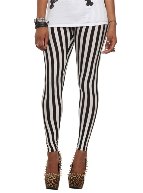 black and white patterned tights black white striped leggings baggage clothing