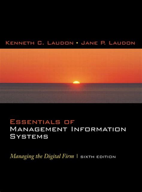 Mba In Information Systems Canada by Laudon Laudon Essentials Of Management Information