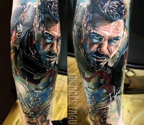 ironman tattoo michael taguet post