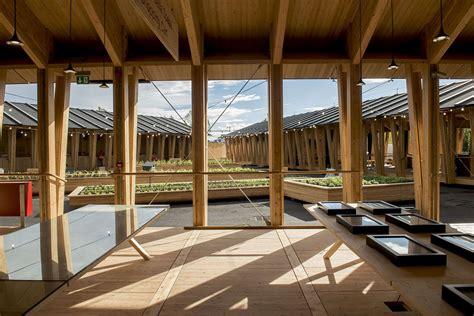 Triangular Kitchen Island slow food pavilion by herzog and de meuron metalocus