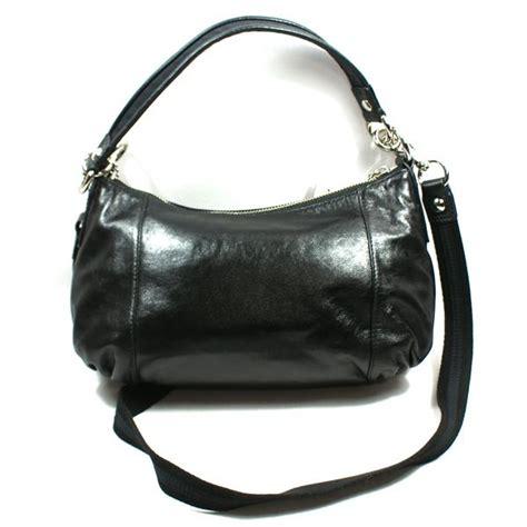 groovy swing coach poppy black leather groovy shoulder swing bag 15287