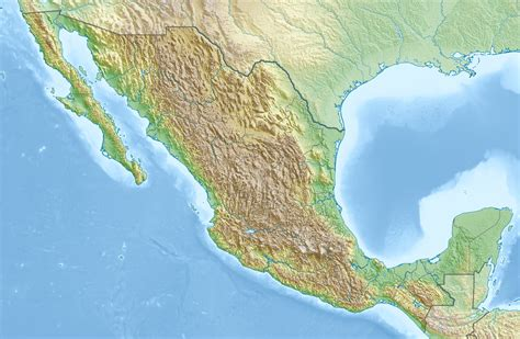 geography of mexico wikipedia file mexico relief location map jpg wikipedia
