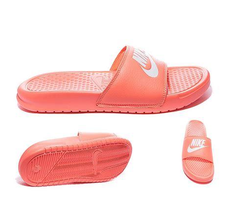 womens nike slide sandals nike womens benassi jdi slide sandal bright mango