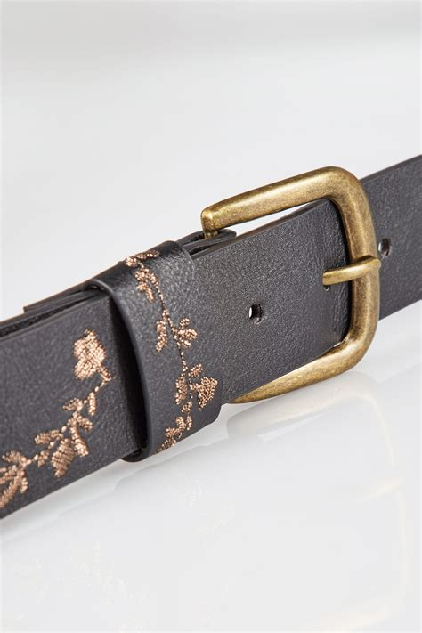 Find S Names By Address Uk Black Gold Floral Embroidered Belt Size 16 To 32
