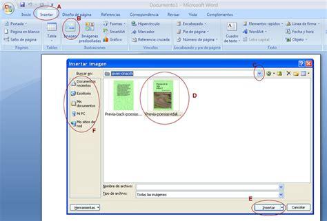 como insertar imagenes y simbolos en word curso word insertar imagen