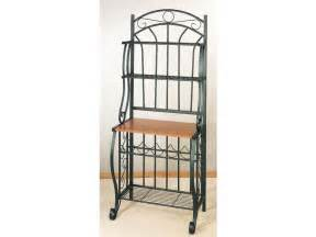 Wrought Iron Bakers Rack With Wine Rack Bakers Racks Wrought Iron Bakers Rack With Wine Rack