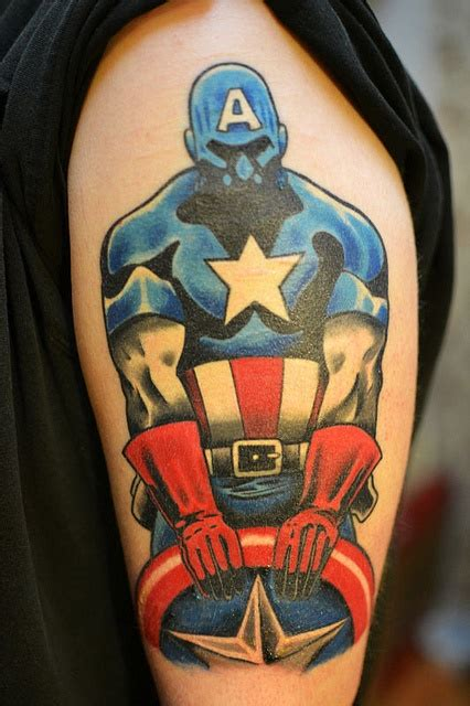 fate tattoo designs captain america by at fate in columbus ohio