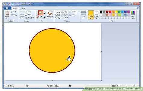 microsoft drawing how to draw a logo in microsoft paint 7 steps with pictures