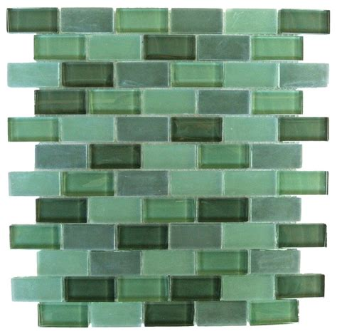 green rectangular glass mosaic tile kitchen bathroom wall
