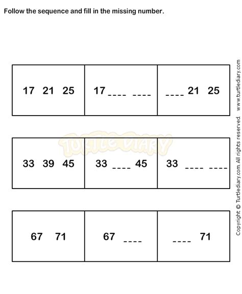 sequence pattern in math number sequence worksheet 6 math worksheets