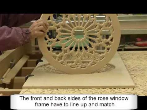 making  stained glass wood rose window frame youtube