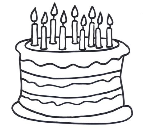 coloring pages for birthday cake birthday cake coloring pages 3