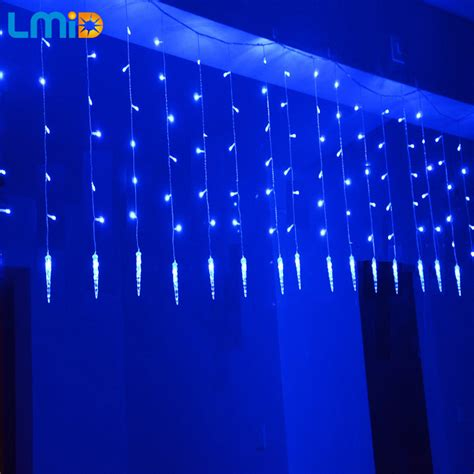 icicle curtain lights holiday lighting 2m 0 6m 60leds waterproof string light