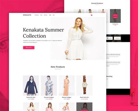 fashion ecommerce website free psd template download
