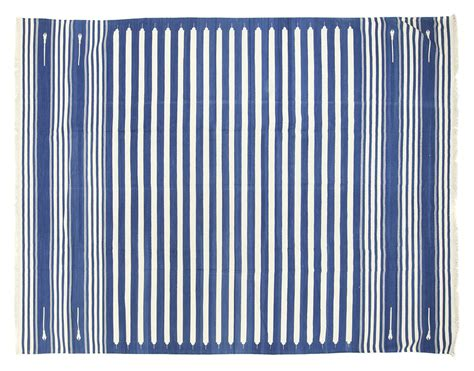 striped dhurrie rugs blue white stripe dhurrie 9 5 x 12 seret and sons