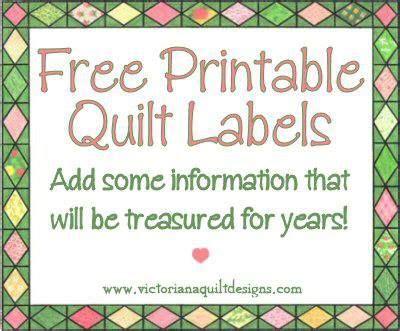 Printable Quilt Labels