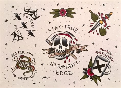straight edge tattoo designs 17 best ideas about edge on