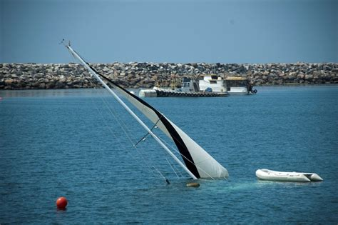 Yacht Sinks by Boat Sinks Off Redondo Beach Harbor