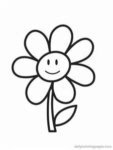 Coloring pages worksheets simple flower coloring pages for kids