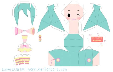 Papercraft Base - princess miku papercraft by superstarhollyann on deviantart