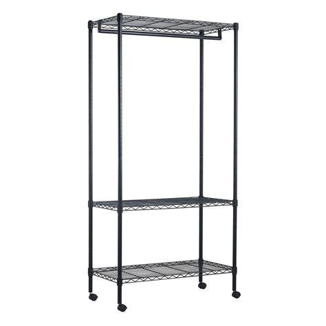 Wardrobe Rack On Wheels sandusky 3 shelf 35 in w x 71 in h x 17 in d steel