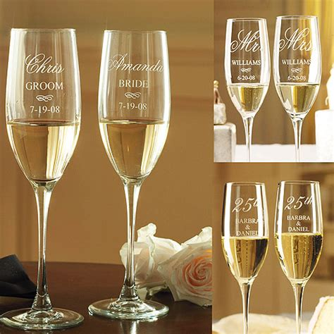 Wedding Wishes Engraving by Personalized Anniversary Chagne Flutes Walmart