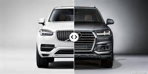 volvo xc90 vs audi q7 front comparison 1