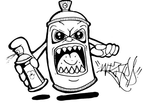 spray paint drawing graffiti spray can character by wizard1labels on deviantart