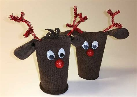 einfache weihnachten mittelstücke zu machen rentiere als weihnachtsdeko kann schnell selber machen