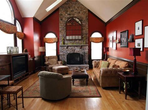 rustic living room paint colors attractive rustic home paint ideas stone fireplace wall