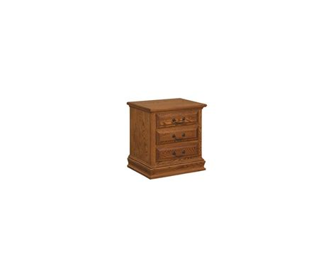 3 Drawer Nightstands Amish Made Royal 3 Drawer Nightstand Homesquare Furniture