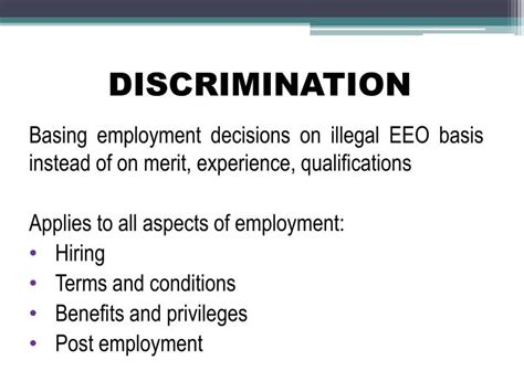 Discrimination In Employment On The Basis Of Criminal Record Ppt Eeo Counselor Title Vii Powerpoint