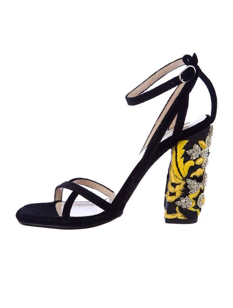 dries noten embellished velvet sandals shoes dri20946 the realreal