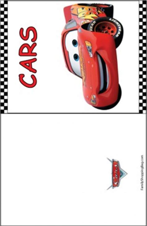 free printable birthday cards lightning mcqueen cars blank card cars invitations free printable ideas